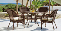 Set mesa de comedor de lujo para exteriores Quintana - Set mesa de comedor de lujo para exteriores Quintana