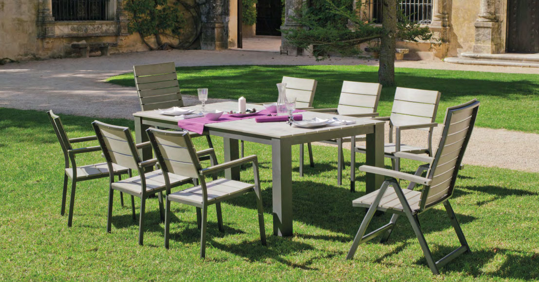 Mia home set mesa de comedor para exteriores soracul for Mesas de comedor para exterior