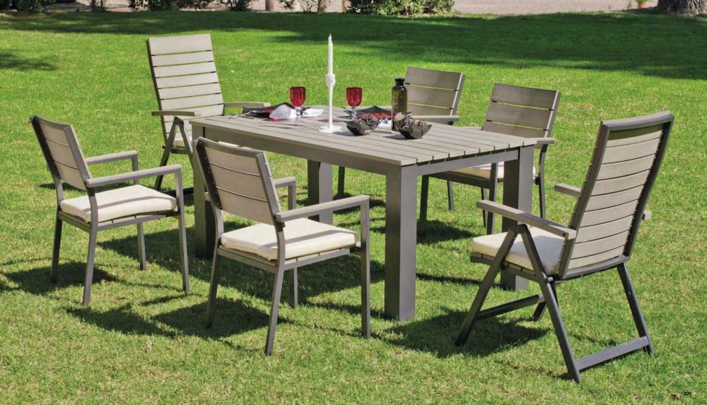 Set mesa de comedor para exteriores Soracul - Mesa de comedor con resistencia garantizada y acabado de lujo Soracul