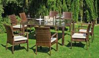 Set mesa de comedor para exteriores Vetonia - Mesa de comedor con resistencia garantizada y acabado de lujoVetonia