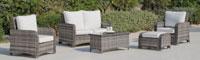 Set muebles de lujo para exteriores CALASOL - Muebles de Rattan de lujo con resistencia garantizada CALASOL