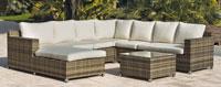 Set muebles de lujo para exteriores MURANO  - Muebles de Rattan de lujo con resistencia garantizada MURANO