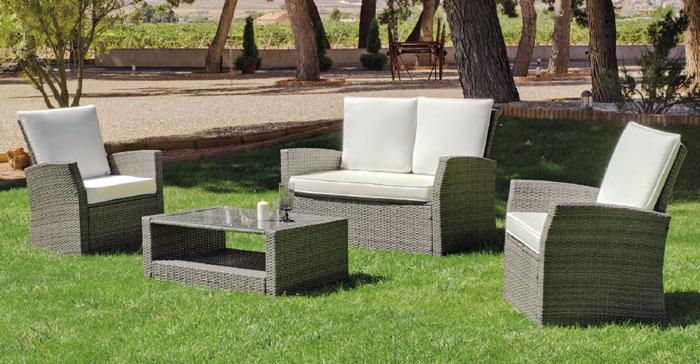 Set muebles de lujo para exteriores VERONA 7 - Muebles de Rattan de lujo con resistencia garantizada VERONA 7