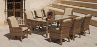 Mesa de comedor de lujo para exteriores Etna - Mesa de comedor de lujo para exteriores Etna