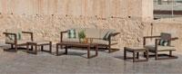 Sofa ALHAMA - Sofas ALHAMA, fabricado en aluminio y tapicería Dralón