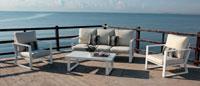 Sofa BOLONIA - Sofa BOLONIA, fabricado en aluminio y tapicería Dralón