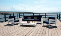 Sofa Cosmos 2 - Sofa Cosmos 2, fabricado en aluminio y tapizados en dralon