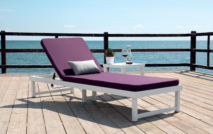 Tumbona Venecia - Tumbona Venecia, fabricado en aluminio y tapicería Dralón