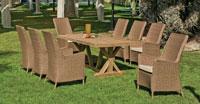 Mesa de madera Teka Richmond o Sillon Babylon