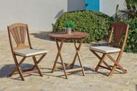 Set mesa y sillas Sundal - Set mesa y sillas Sundal, fabricado en madera hardwood