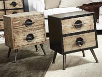 Mesita Giles en madera natural o vintage - Mesita Giles en madera natural o vintage