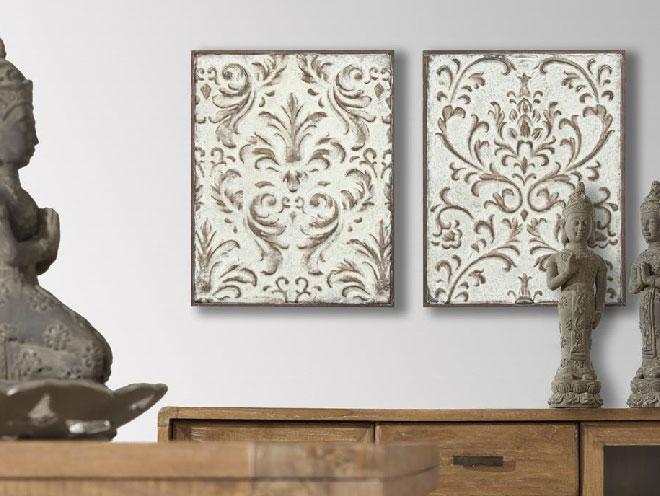 Mia home paneles decorativos de metal - Paneles de madera decorativos ...