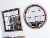 Espejo madera rejilla