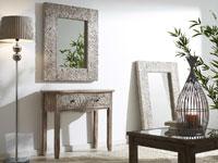 Espejo o Consola de madera decapada - Espejo o Consola de madera decapada