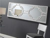 Espejo de madera tallada