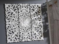 Panel Madera tallada Flor - Panel Madera tallada