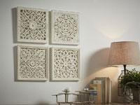 Set de paneles de madera tallada - Set de paneles de madera tallada