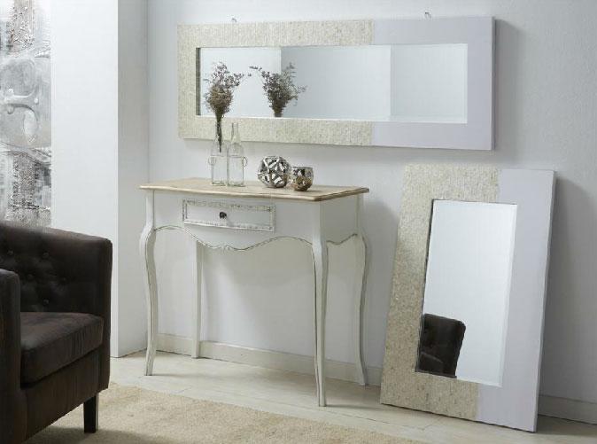 Espejo rectangular madre perla laca - Espejo rectangular madre perla laca