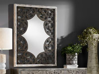 Espejo con talla de madera - Espejo con talla de madera