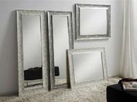 Espejos Rectangulares Blanco/Gris