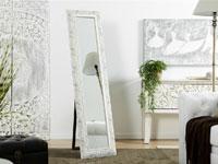 Espejo de pie tallado blanco - Espejo de pie tallado blanco
