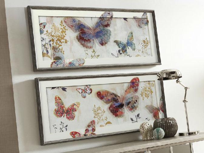 Cuadro mariposas de cristal