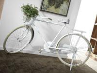 Bicicleta decorativa - Bicicleta decorativa, Blanca