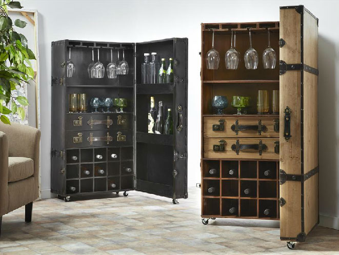 Mia home mueble bar for Mueble bar madera