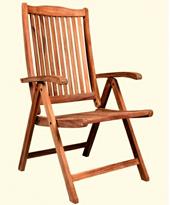 Sillón madera de teca modelo Veronica - Sillón de teca maciza 3 posiciones