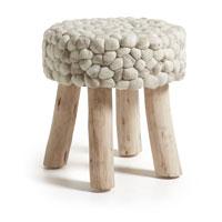 Reposapies Slenna - SLENNA, Reposapies fabricado en madera y lana
