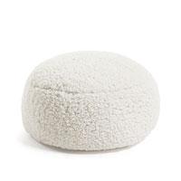 Puff Cora - CORA Puf 60x60 imitación piel, blanco