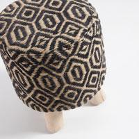 Taburete Boon - Boon, Taburete fabricado en madera y tejido algodon