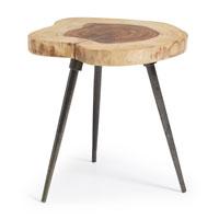 Mesa Craft - CRAFT Mesa auxiliar pies metal sobre madera sheesham