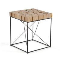 Mesa de salon baja Dane - DANE Mesa auxiliar metal madera natural