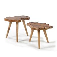 Set 2 mesas Harris - HARRIS Set 2 mesas aux madera teka natural