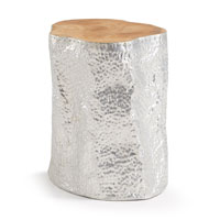 HOKO Mesa auxiliar madera  - HOKO Mesa auxiliar madera teka aluminio