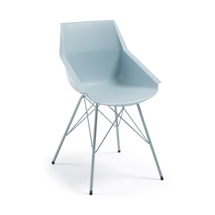 Silla Kunn - KUNN Silla brazos pie epoxy asiento plástico