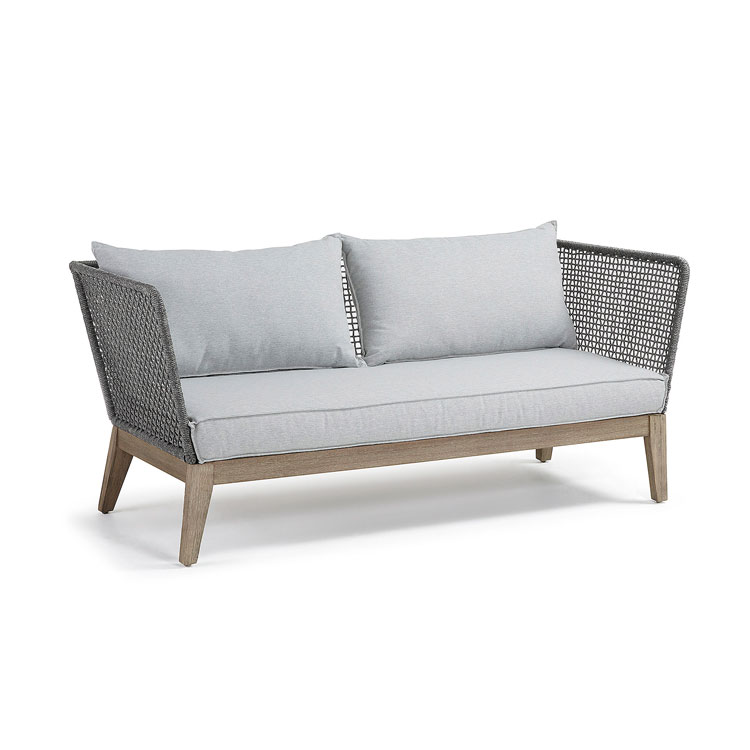 Sofa Relax - RELAX Sofá acacia patina gris cuerda gris