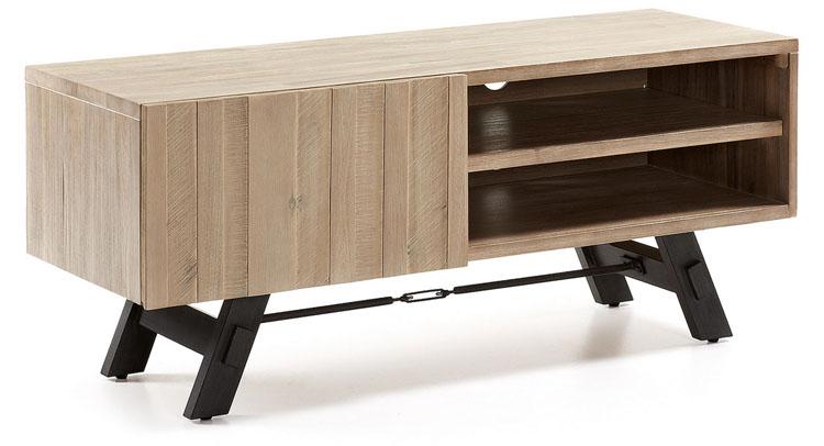 Mueble TV madera acacia natural