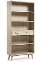Estantería en madera de acacia maciza en acabado teñido gris claro - Diseño moderno