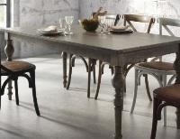 Mesa de madera gris - Mesa de madera color gris