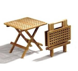 Mesa auxiliar de picnic - Mesa auxiliar plegable de Teca
