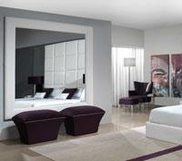 Espejo IRIS - Espejo IRIS, Tapizado con telas de máxima calidad de tacto suave