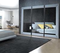 Espejo TRI - Espejo TRI, Tapizado con telas de máxima calidad de tacto suave