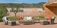 Set de sillones de exterior de rattan - Set de sofás para ambiente exterior.
