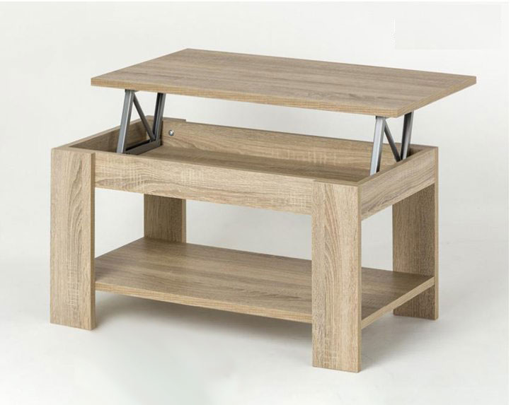 Mesa baja extraible versatil elegante estantes villalba for Mesas extraibles salon