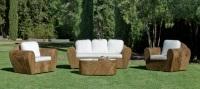 Set de sillones de ratán natural - Set de sillones con mesa para exterior.