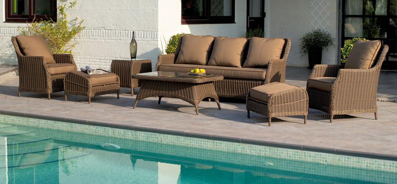 Set de muebles para intemperie Lion - Set de sofás y sillones para exteriores, nuevo diseño Lion.