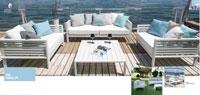 Set de sofá para exterior Amalfi - Conjunto con estructura de aluminio en color blanco