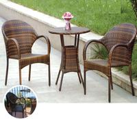 Set mesa para exterior y sillones ADRA/NERJA - Set de mesa de exterior y sillones en estructura de aluminio y fibra sintetica, ADRA/NERJA